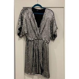 Parker Black Silver Mini Dress